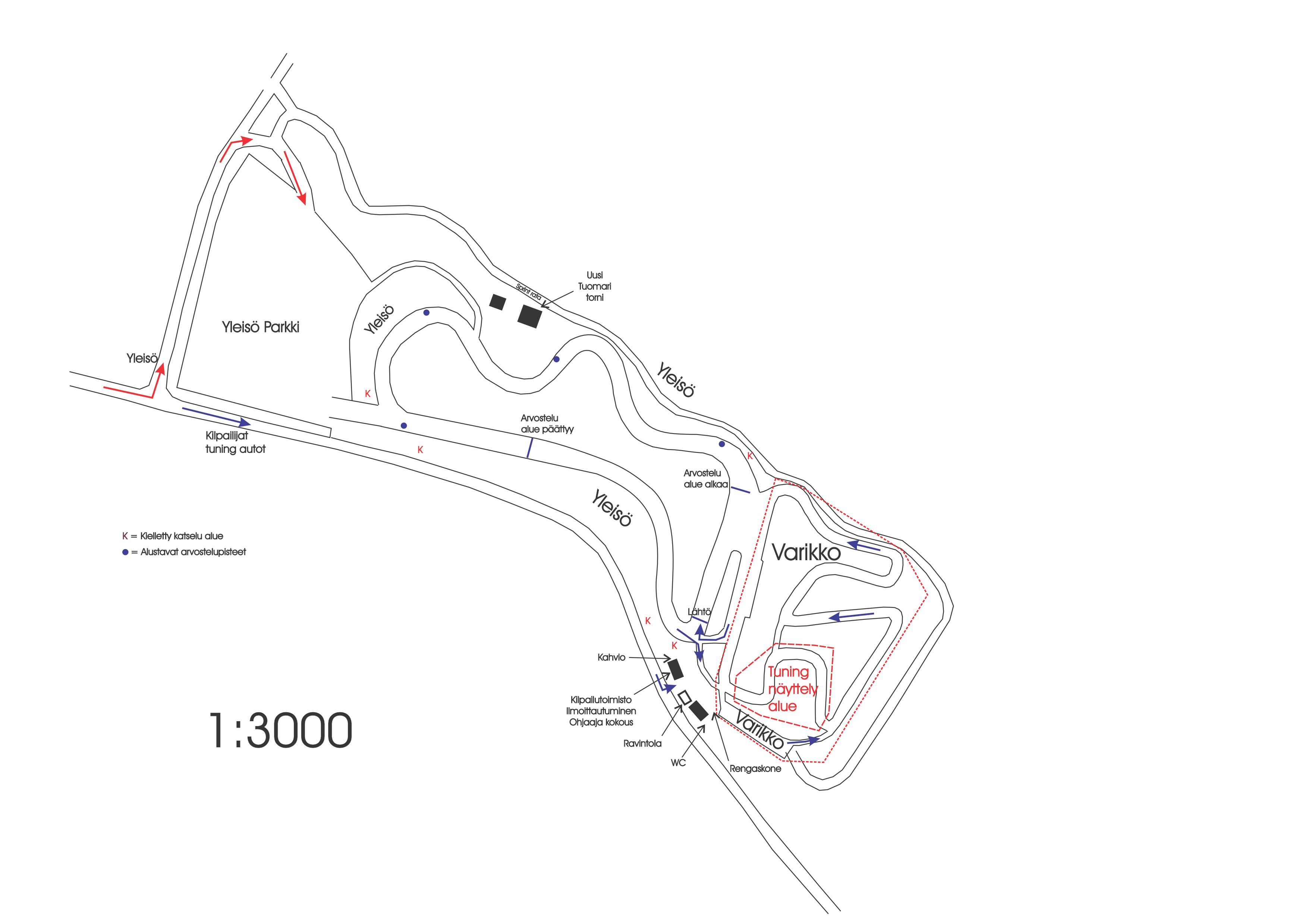 Prp Racing Drifting Alue Kartta Lapuan Urheiluautoilijat Ry